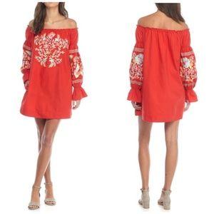 Free People Fleur Du Jour Embroidered Dress M